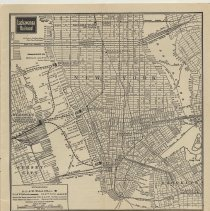 Image of pp [33-34]: map Hoboken and New York with detail of offices & connections.