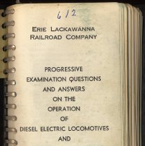 Image of Book: E.L.R.R. Progressive Examination Questions & Answers on Operation of Diesel Electric Locomotives & MU Passenger Car Equipment. 1965. - Manual, Training