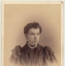 Image of Cabinet photo of a young woman, Hoboken, n.d., ca. 1895-1910. - Photograph, Cabinet