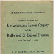 Image of Merger Protection Agreement ... Between EL R.R. Co. & Brotherhood of Railroad Trainmen. Eff. Apr. 1, 1968. Western Dist. - Agreement