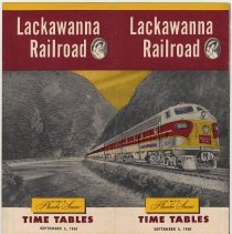 Image of Timetable: Lackawanna Railroad, The Route of Phoebe Snow. Time Tables. Sept. 5, 1960. - Timetable