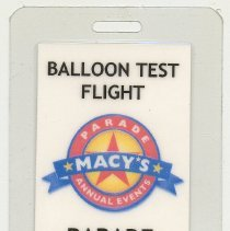 Image of Macy's Parade Studio; Balloon Test Flight; Bill Barton