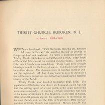 Image of pg 11: Trinity Church, Hoboken, N.J. A Sketch: 1853 - 1903
