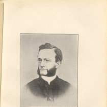 Image of plate facing pg 16: The Rev. Frederick Fitzgerald, 1865 - 1866.