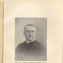 Image of plate facing pg 28: The Rev. George Clarke Houghton, D.D., 1879 - 1897.