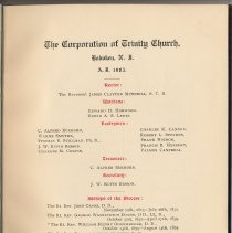 Image of pg 3: The Corporation of  Trinity Church, 1903