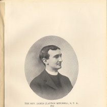Image of plate facing pg 32: The Rev. James Clayton Mitchell, S.T.B., 1897.