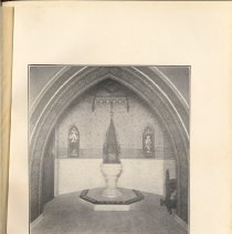 Image of plate facing pg 36: The John Stevens Memorial Baptistery, 1896.