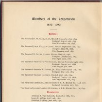 Image of pg 4: Members of the Corporation 1853 - 1903