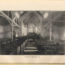 Image of plate facing pg 38: Trinity Church, 1903 [interior - sanctuary]