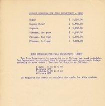 Image of leaf 4: Salary Schedule 1958; Work Schedule 1958