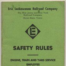 Image of Manual: Safety Rules. Engine, Train & Yard Service Employes. E.L.R.R.; N.Y. & N.J. R.R. Eff.: Apr. 1, 1964.  - Manual, Employee