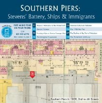 Image of Southern Piers: Stevens' Battery, Ships & Immigrants; kiosk 3-1, 2nd & FSD
