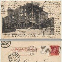 Image of Postcard: 6201 - Meyer's Hotel, Hoboken, N.J. Postmarked Hoboken, May 25, 1905. - Postcard