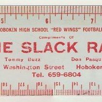 Image of Ruler: Compliments of The Slack Shack, 302 Washington St., Hoboken, 1972.  - Ruler