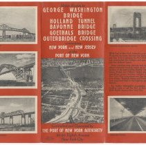 Image of Map: Motor Routes to George Washington Bridge, Holland Tunnel ... Port of N.Y. Authority. N.d., ca. 1931-1932. - Map