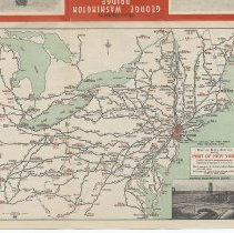 Image of detail side 1, rotated, Map of Main Routes to the Port of New York