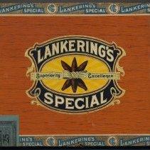 Image of Box, cigar: Lankering's Special. Panatelas. (Adoph Lankering & Bro., 58 Newark St., Hoboken.) N.d., ca. 1949-1950. - Box, Cigar