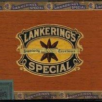 Image of Box, cigar: Lankering's Special. Panatelas. (Adoph Lankering & Bro., 58 Newark St., Hoboken.) N.d., ca. 1951-1952. - Box, Cigar