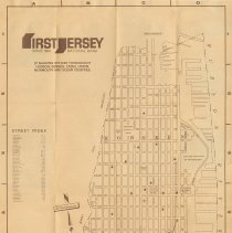 Image of Map of Hoboken. Issued by First Jersey National Bank, Hoboken, n.d., ca. 1976-1983. - Map