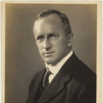 Image of Sepia-tone photo of Clifford M. Holland, 1st Chief Engineer & namesake of Holland Tunnel. N.Y., n.d., ca. 1920-1921 - Photograph