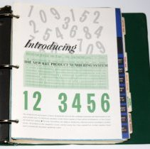 Image of first opening to publication on new stock numbering system