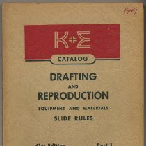 Image of Catalog of Keuffel & Esser Co., New York; 41st edition, Part 1. Oct.,1949. - Catalog, Sales