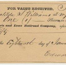 Image of 2: Matilda S. Williams, one share, Jan. 18, 1856.