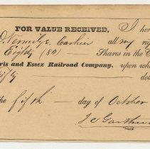 Image of 1: Gasthwaite, 80 shares, Oct. 5, 1855.