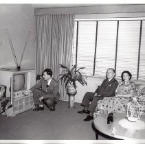 Image of B+W photos, 11, of 604 Hudson St. belonging to Joseph Samperi, Hoboken, during & after renovations in 1951. - Photograph