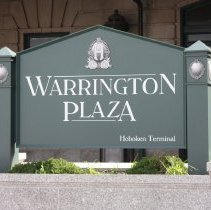 Image of 044 detail of Warrington Plaza sign