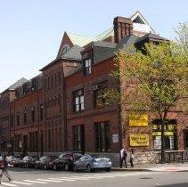 Image of 081 north (Newark St.) + west facades (River Street) Hoboken Land Building