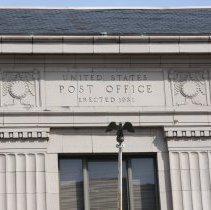 Image of Color photos, 3, of Frank Sinatra Post Office, 89 River St., Hoboken, Apr. 14, 2012. - Photograph