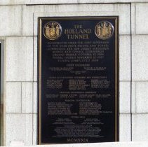 Image of Color photo of Holland Tunnel plaque on N.Y.side, 1929. Digital photo taken 2010.  - Photograph