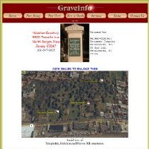 Image of File document about Hoboken Cemetery being the webpage of graveinfo.com as found 2012. - File, Document