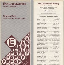 Image of Map: Erie Lackawanna Railway Company. (Freight) System Map of the Friendly Service Route. Issued April 1974. - Map