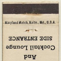Image of matchbook cover