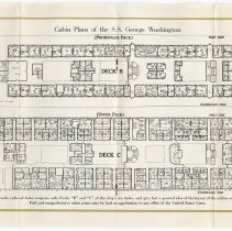 Image of pp [8-9] Cabin Plans of S.S. George Washington, Deck B, Deck C