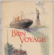 Image of color front cover: Bon Voyage (rear cover blank)