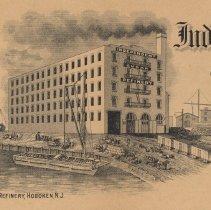 Image of detail vignette view: Refinery, Hoboken, N.J.