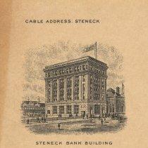 Image of detail vignette upper left: Steneck Bank Building