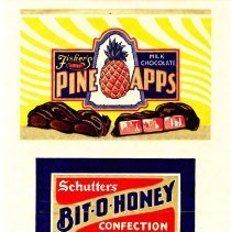 Image of 2: three candy labels