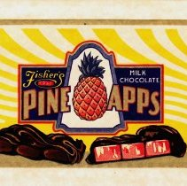 Image of 4: Fisher's Pine Apps, Milk Chocolate, rectangular label