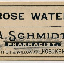 Image of A. Schmidt label 2: Rose Water