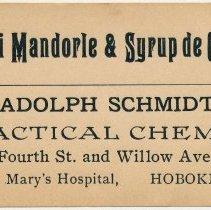 Image of A. Schmidt label 3: Oilo di Mandorle & Syrup de Cicoria