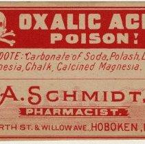 Image of A. Schmidt label 5: Oxalic Acid, Poison!