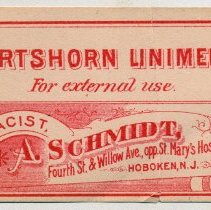 Image of A. Schmidt label 1: Hartshorn Limiment