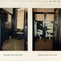 Image of pg 6 (rotated): 2 color photos: Existing Toilet Facilities
