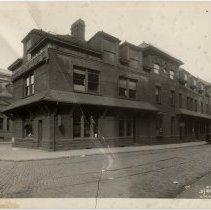 Image of Sepia tone photos, 2, of Hoboken Land & Improvement Co., 1 Newark Street, Hoboken, March 24, 1931. - Print, Photographic