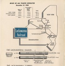 Image of back cover: miles of track operation; schematic system route map